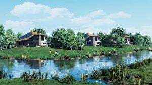Impressie van de natuurvilla's van Texel Exclusief.